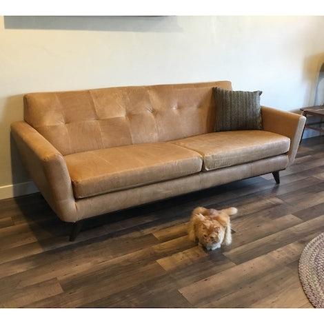 Hughes Leather Sofa