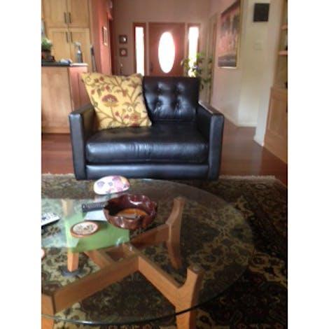 Eliot Leather Chair - Photo by Usha Krishnamurthy