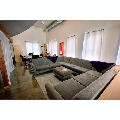 Hughes U-Sofa Sectional  - Photo by Roxanne Darling