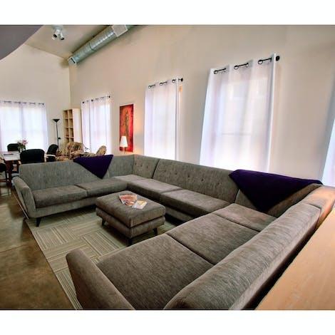 Hughes U-Sofa Sectional  - Photo by Roxanne D.