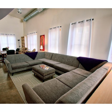 Hughes U-Sofa Sectional  - Photo by Roxanne D.