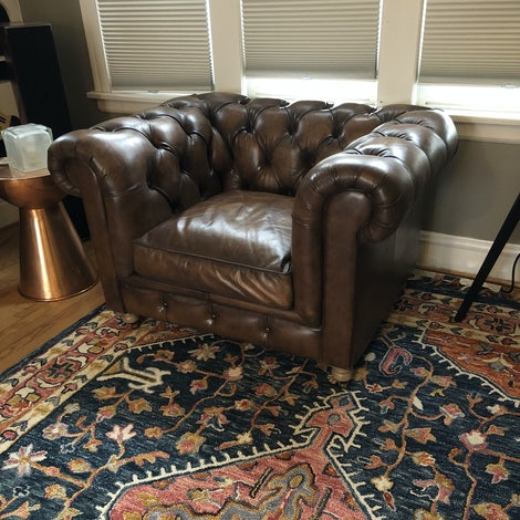 Liam Leather Chair - Photo by Kelly Lensink
