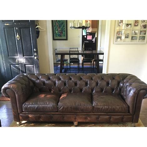 Liam Leather Sofa - Photo by Stephanie Collier