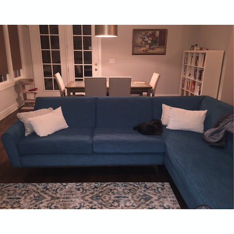 Hyland Sectional with Bumper - Photo by Anisha Madan