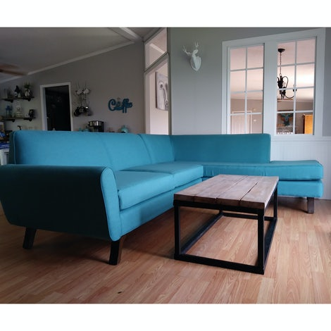 Hyland Sectional with Bumper - Photo by Nicole Archibald