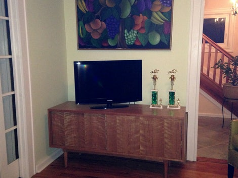 Simic Apartment Media Console - Photo by Carol Beck