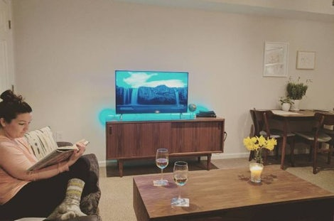 Simic Apartment Media Console - Photo by Cameron M.