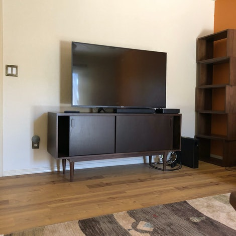 Simic Apartment Media Console - Photo by Jerry Wallace
