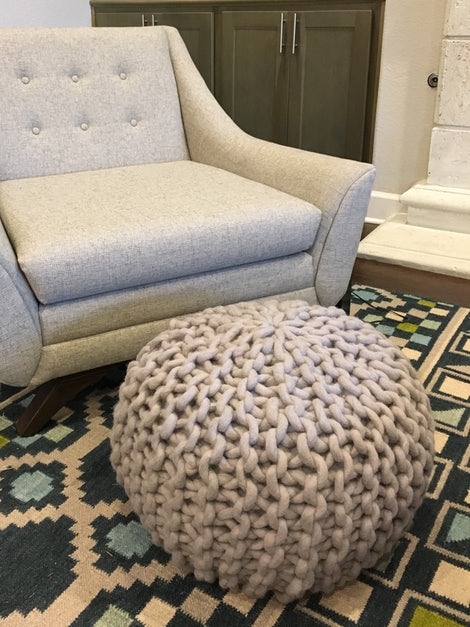 Cool Riley Grey Pouf Ncnpc Chair Design For Home Ncnpcorg