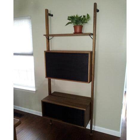 Dexter Modular Shelf with Cabinet - Photo by Linda Clevenger