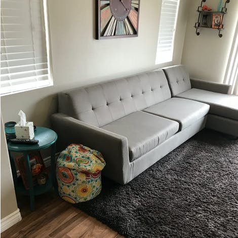 Hughes Sleeper Sectional  - Photo by Jesse Torres
