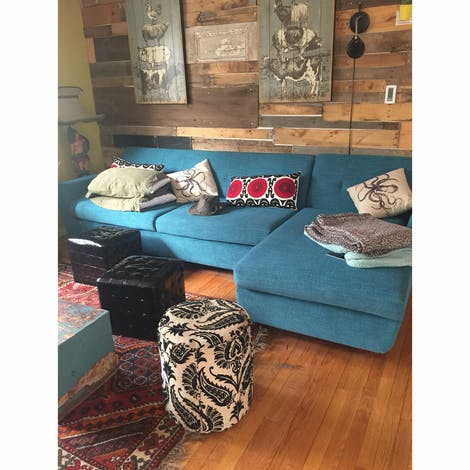 Hughes Sleeper Sectional  - Photo by Amy Kandall