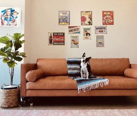 Briar Leather Sofa - Photo by Robert Jackson