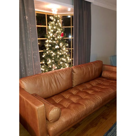 Briar Leather Sofa - Photo by Taylor Brough