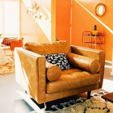 Briar Leather Chair - Photo by Shop San Junipero