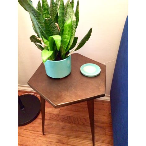 Hex End Table - Photo by Maleah Johnston