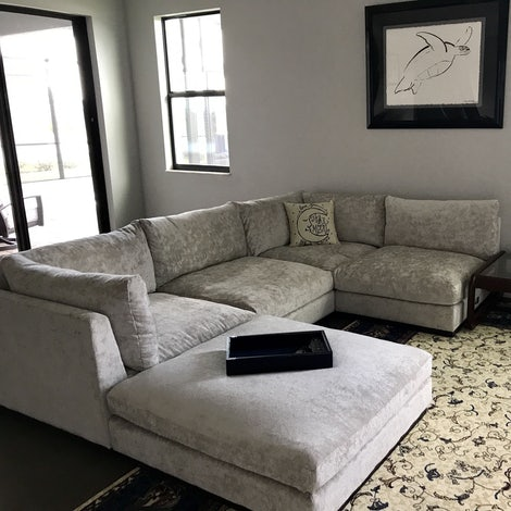 Holt Armless U-Sofa Sectional - Photo by Laura Reitz