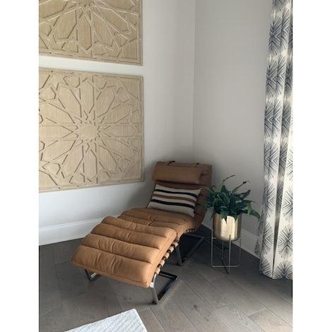 Halston Leather Chair - Photo by Carmella Burke