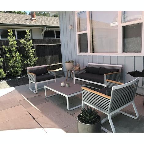 Bondi Outdoor Double Sofa - Photo by Nicole Jeffries