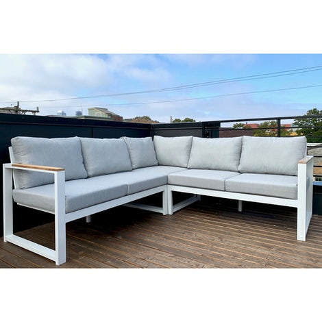 Laurel Outdoor Corner Sectional - Photo by Sean Munson